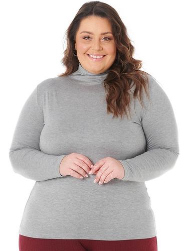 Blusa Camisa Cacharrel Feminina Plus Size Até O G4