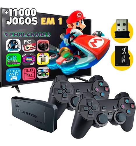 Console Gamestick Lite 11mil Jogos Retro 2 Controles Sem Fio