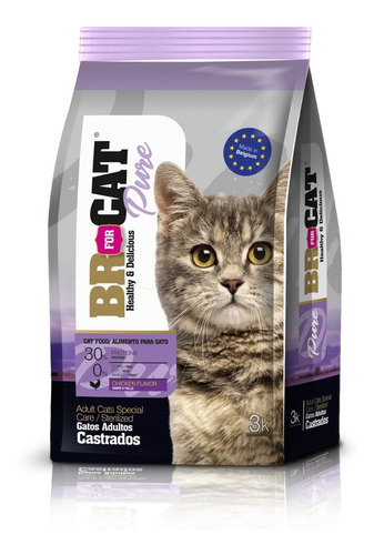 Br For Cat Castrado Alimento Gato X 3 Kg