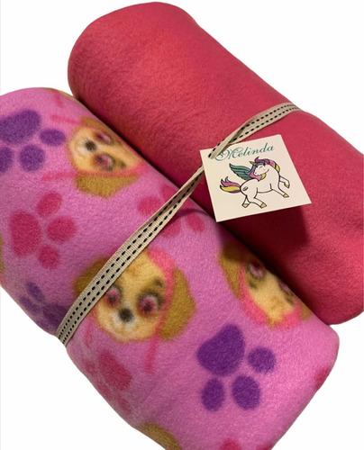 Manta Para Pet Soft Kit 2 Peças Bem Quentinha Rosa