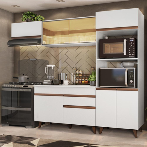 Cozinha Completa Madesa Reims Xa260001 Com Armário E Balcão