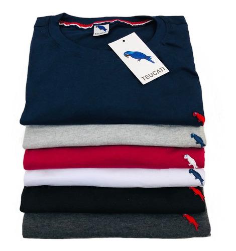 Kit 5 Camisetas Básica Masculina Algodão 30.1 / Premium