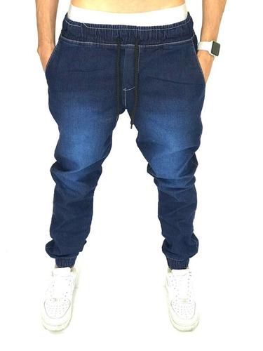 Calça Jogger Bege Track Pants Fitness Masculina Pronta Entre