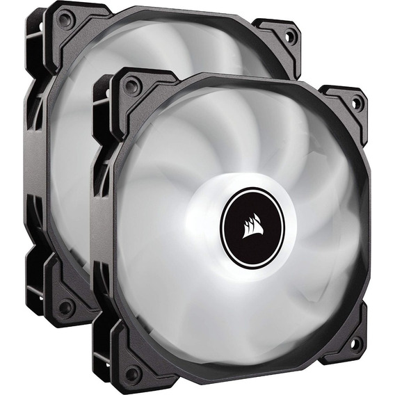 2 Fan Cooler Corsair Af140 Led Low Noise Fan, Dual Pack - Wh