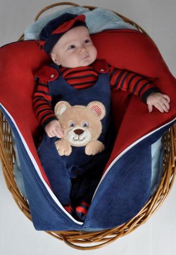 Saída Maternidade Menino Ursinho Com Saco De Dormir Plush