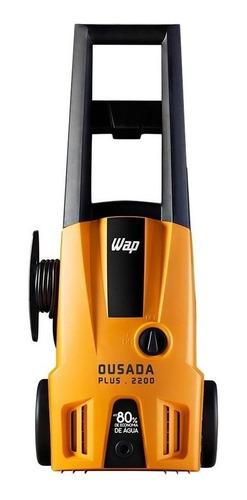 Lavadora De Alta Pressão Wap Ousada Plus 2200 Laranja/preta De 1500w Com 1750psi De Pressão Máxima 220v