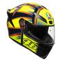 Capacete Para Moto Integral Agv K1 Black E Yellow Soleluna 2015 Tamanho S