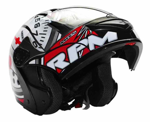 Capacete Mixs Gladiator Robocop Articulado Rpm Conta Giro