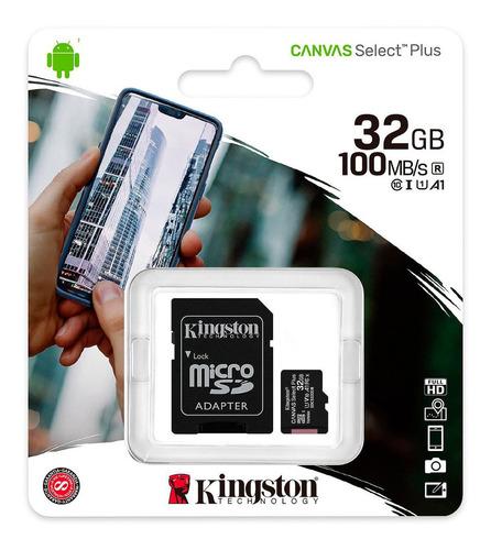 Tarjeta Micro Sd Hc Sd Kingston Clase 10 32gb Con Adaptador
