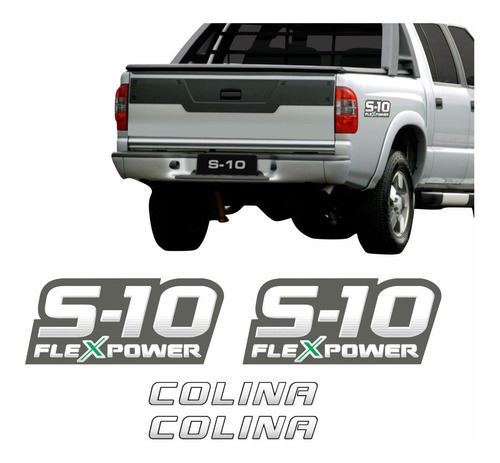 Kit Adesivo Chevrolet S10 Colina Flex Verde 2009 S10kit17 Original