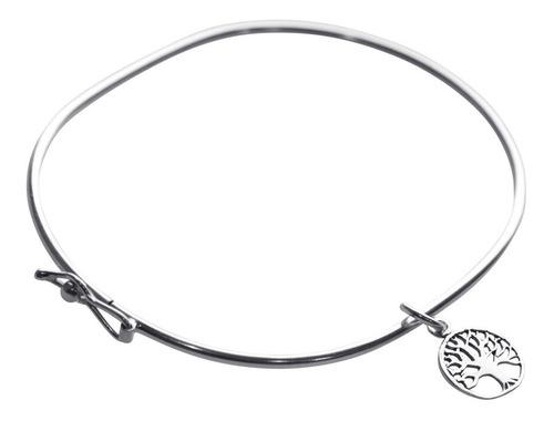 Pulseira Bracelete Rígido Prata 925 - Árvore Da Vida