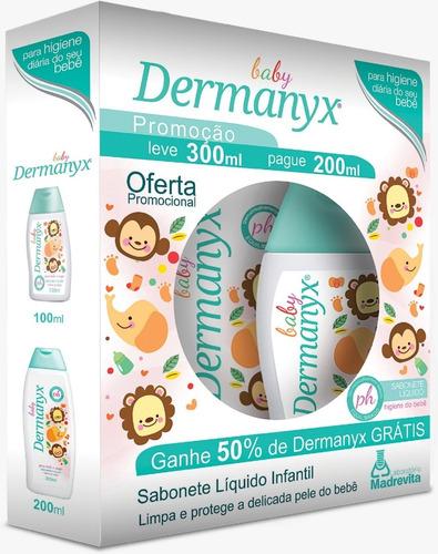 Baby Sabonete Infantil Dermanyx Baby 200ml + 100ml Grátis