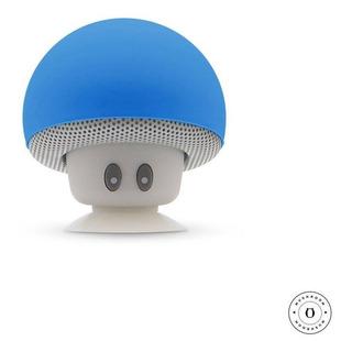 Parlante Bluetooth Honguito Fong Gato Ventosa Mushroom