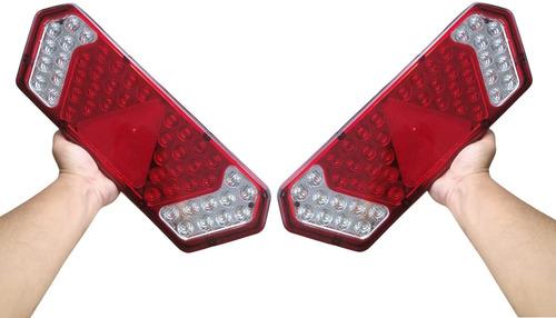 Par Lanterna Traseira Caminhão Carreta Guerra Led 12v Ou 24v