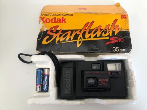 Câmera Fotográfica Antiga Kodak Star Flash S10 Com Caixa