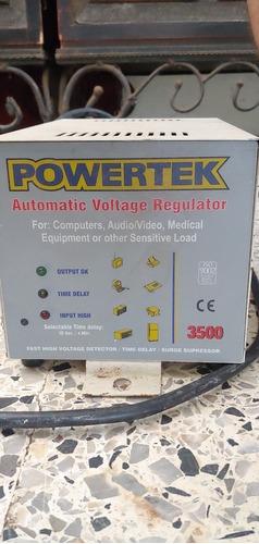 Regulador De Voltaje Automático Powertek 3500 Watts Negociab