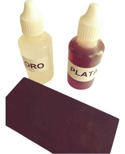 Piedra De Toque + Acido Plata 30ml + Acido De Oro 30ml