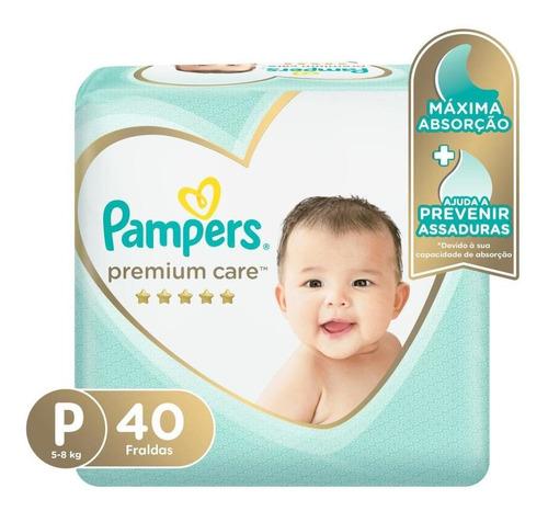 Fralda Pampers Premium Care Nova Mega Tamanho P 40 Unidades