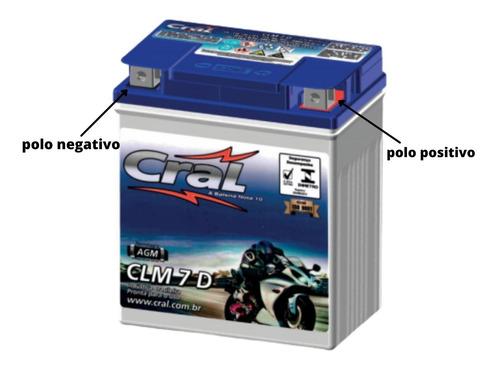 Bateria Selada Cral Moto 7ah Cbx 250 Twister Todas