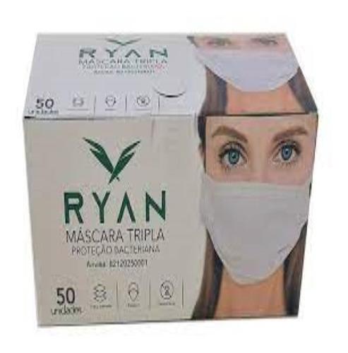 Caixa Máscara Proteção Bacteriana Tripla Camada 100 Unidades