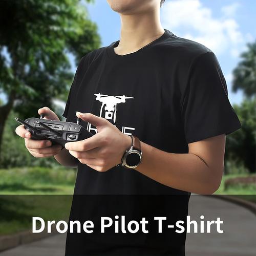 Startrc Drone Pilot T shirt 100% Algodão Puro Manga Curta