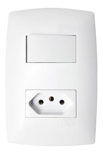 Conjunto Interruptor Simples E Tomada 10a Home Blux