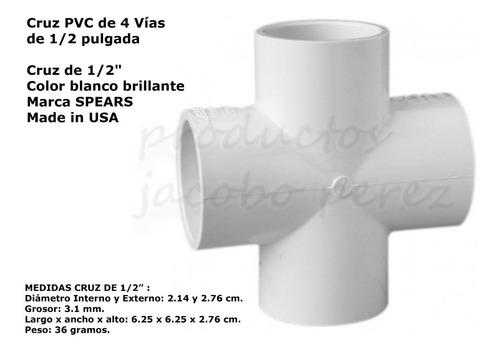 Cruz Pvc De 4 Vías 1/2 PuLG - Unidad a $11900