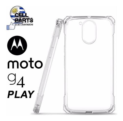 Protector Tpu Moto G4 Play Reforzado + Vidrio Templado Vea