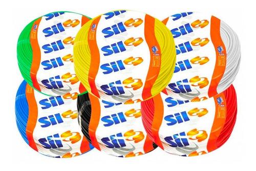 Cabo Flexível 6,0mm 70g 750v (cores) Rolo Com 100m Sil