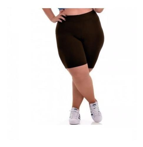 Bermuda Legging Fitness Ciclista Plus Size Short