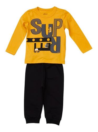 Conjunto Masculino Infantil  Camiseta/calça - Elian