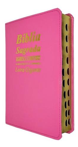 Bíblia Sagrada Letra Gigante Com Harpa Cristã