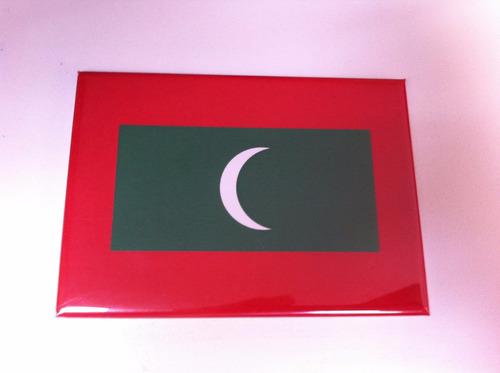 Ímã Da Bandeira Das Ilhas Maldivas Original