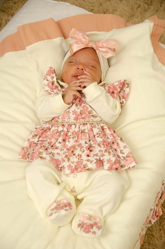 Saída Maternidade Menina Eloá 5 Peças Cor 1