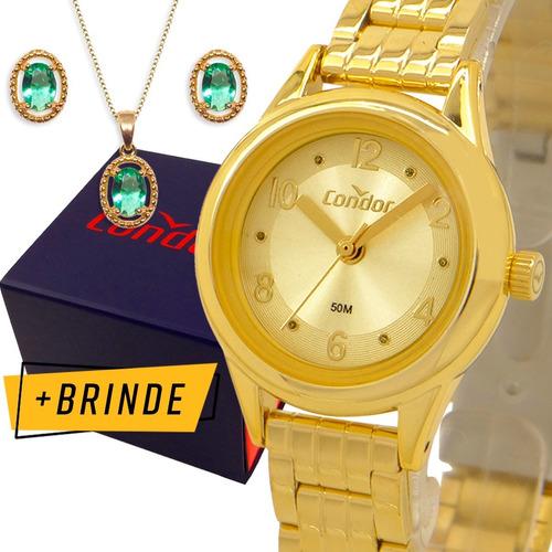Relógio Condor Feminino Dourado Prova Dagua Garantia 1 Ano