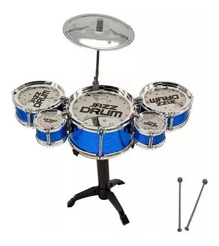 Mini Bateria Infantil 5 Tambores 1 Prato - Happy Jazz Drum