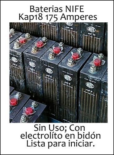Baterías Especiales Nife  Kap 18 / 175 Amp 1.2 V En Packs