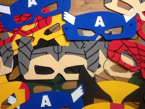 Antifaces Superhéroes Pack 30 Unidades