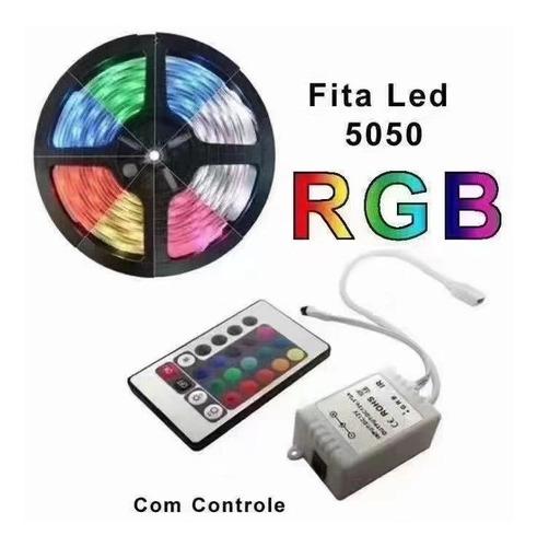 Fita Led Automotiva Rgb 5050 Com Controle Sem Fio Da Luz Led