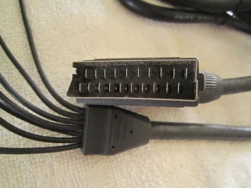 Cabo Scart Para Console Sony Ps2 E Ps3 ((( Cabo Original )))