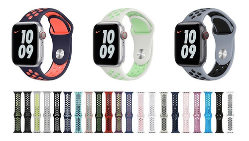 Pulseiras Silicone Para Apple Watch 40mm 38mm 42mm 44mm