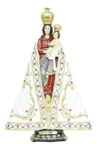 Imagem Nossa Senhora De Nazaré Em Resina 35cm