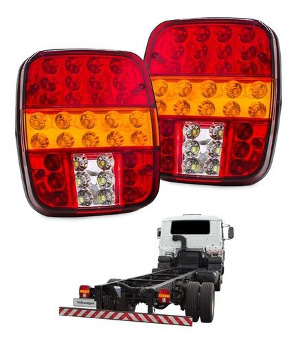 Lanterna Traseira Ford Cargo Caminhão Par Marmita 12v 24v