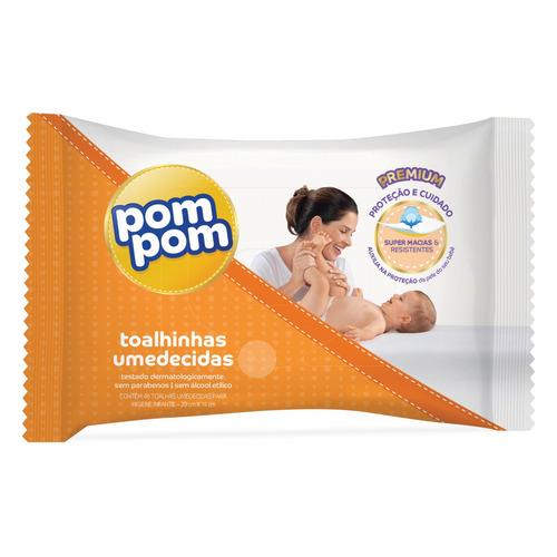 Toalhas Umedecidas Pom Pom Premium 46 U