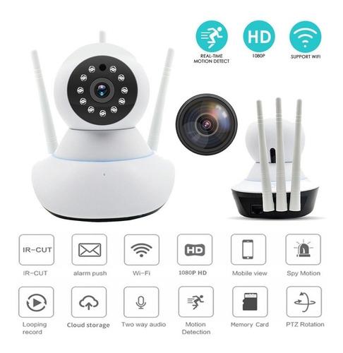 Cámara Seguridad Ip Wifi Robótica Visión Noct 3 Antenas Wifi