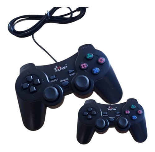 Kit 2 Controle Joystick Para Pc Usb Ps3 Notebook Manete Game