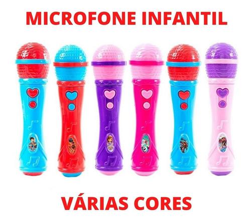 Microfone Infantil Sai A Voz E  Toca Musica Brinquedo