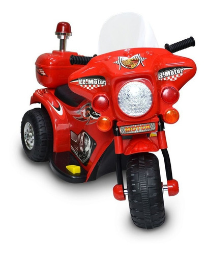 Mini Moto Eletrica Infantil Triciclo 7,5v Bateria Luzes Som