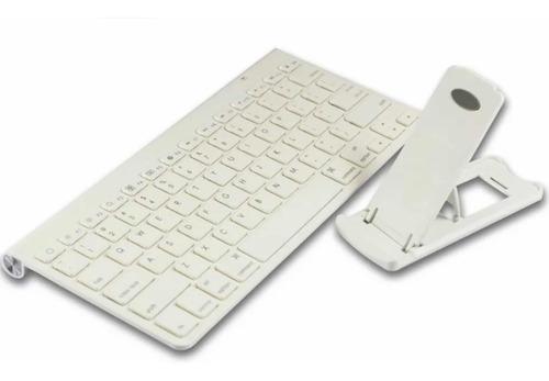 Teclado Inalámbrico Bluetooth Para iPad, iPhone Y Mac + Base