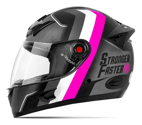 Capacete De Moto Feminino Etceter Stronger Faster Fosco